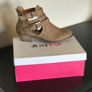 JustFab Shoes - New in Box! Just Fab Morissa Tan Bootie Size 9